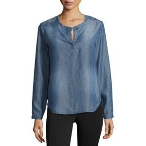 Anthropologie Cloth & Stone Chambray Pullover Top